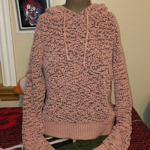 Hooked up super soft pink sweater size small